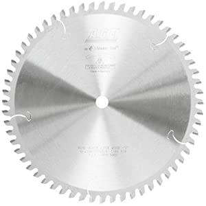 Amana Tool A.G.E. Series MD10-606TB Thin Kerf Sliding Compound Miter & Radial Arm 10-Inch x 60 Tooth ATB 5/8 Bore Saw Blade