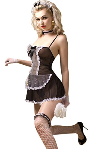 Ace Halloween Adult Women's Sexy French Maid Costume with Tools