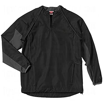 Rawlings Men's Swchru Pullover Jacket with Removable Sleeves(Black, X-Small)