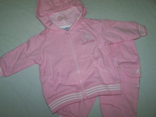 St. Louis Cardinals Baby Pink Jog Jacket and Pants - Buy St. Louis Cardinals Baby Pink Jog Jacket and Pants - Purchase St. Louis Cardinals Baby Pink Jog Jacket and Pants (Majestic, Majestic Apparel, Majestic Toddler Girls Apparel, Apparel, Departments, Kids & Baby, Infants & Toddlers, Girls, Outerwear & Activewear, Jackets)