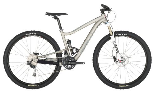 Diamondback 2013 Sortie 29'er 1 Trail Full Suspension Mountain Bike with 29-Inch Wheels (Silver, 19-Inch/Large)
