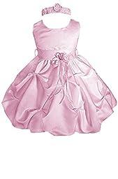 AMJ Dresses Inc Baby Girls\' Pink Flower Birthday Party Dress A1091 Sz L