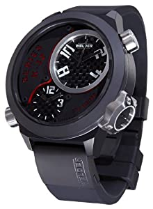 Welder by U-Boat K32 Oversize Triple Time Zone Black Ion-Plated Steel Mens Watch K32-9201 from Welder