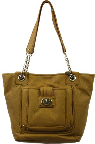 Calvin Klein Turn-Lock Group Tote In Camel