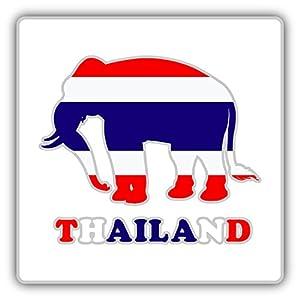 "Amazon.com: Thailand Flag Elephant Car Bumper Sticker Decal 5"" x 5"