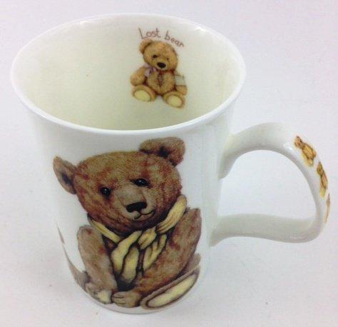 "Roy Kirkham Fine Bone China Teddy "" Lost Bear "" Lancaster Mug #3"