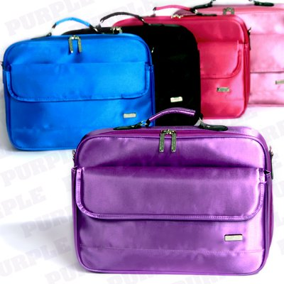 17 inch Nylon Purple Carmine Laptop Notebook Case Carrying Bag with Strap from Surelaptop