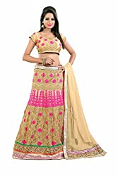 PariFashion Womens Georgette Lehenga Choli(PF1_Multi-Coloured_Free Size)