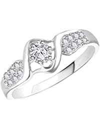 Vidhi Jewels Rhodium Plated Antique Multi Diamond Finger Ring For Women & Girls [VFR418R]