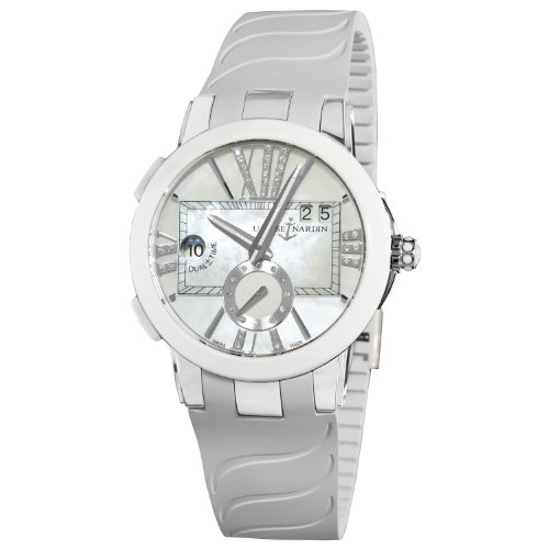 Ulysse Nardin Women's 243103/391 Executive Dual Time Mother of Pearl Diamond Dial Watch
