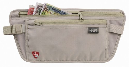 Lewis N. Clark RFID Safe Money Belt Hidden Waist Stash Wallet