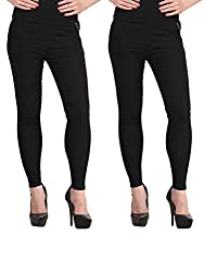 Atharv Collections Women's Jeggings (2BLACK_28_Black_28)