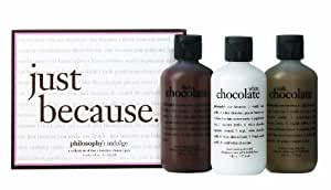 Philosophy Just Because Set (Chocolate Scented Shower Gel Trio)
