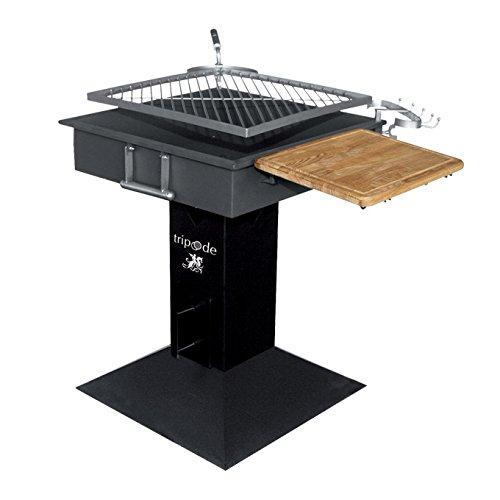Charcoal Grill drehenden Stahlkonstruktion und Kohlenbecken 51×51 cm online bestellen