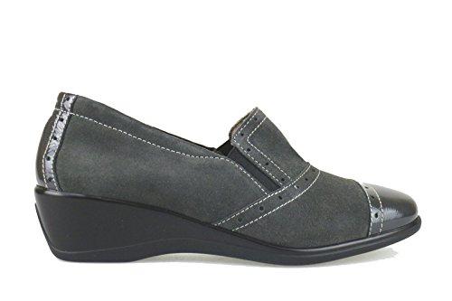 SUSIMODA classiche donna grigio camoscio vernice AJ876 (39 EU)