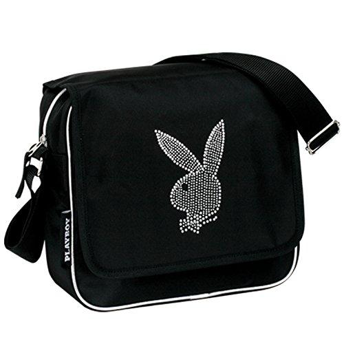 Playboy-Borsa a tracolla, colore: nero/grigio (Montichelvo 29901)