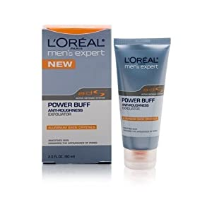 L'Oreal Mens Expert Power Buff Anti-Roughness Exfoliator 2 oz.