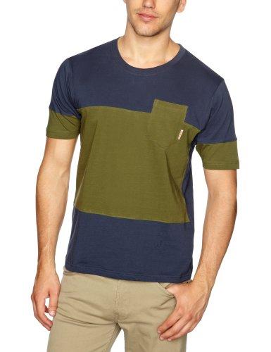 STONE DRI Bescott Men's T-Shirt Blue/Khaki Medium