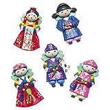 韓国人形マグネット 5コセット