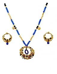 Kshitij Jewels Metal Pendant Necklace Set For Women (KJ 155)