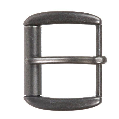 "1 1/2"" (40 mm) Nickel Free Single Prong Rectangular Roller Belt Buckle Color: Antique Silver"