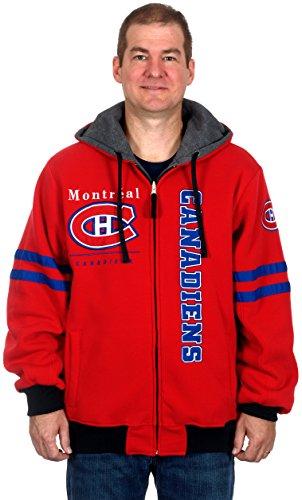 NHL Montreal Canadiens Men's Duel Edge Reversible Heavyweight Fleece Hoodie (Large)