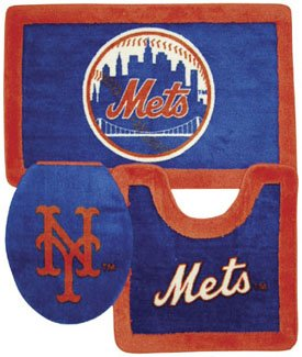 New York Mets 3 Piece Bath Rugs at Amazon.com