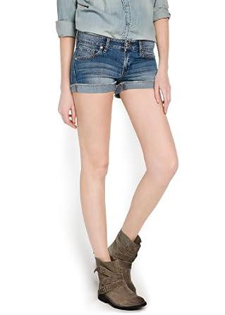 'Mango Women's Medium Wash Denim Shorts, Medium Denim, 10