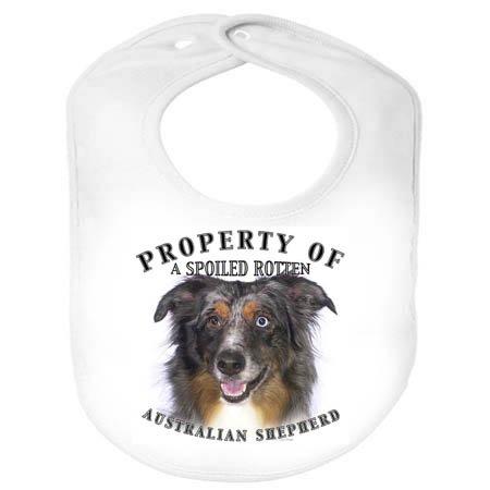 Australian Shepherd Property 100% Polyester Fleece Infant Baby Bib