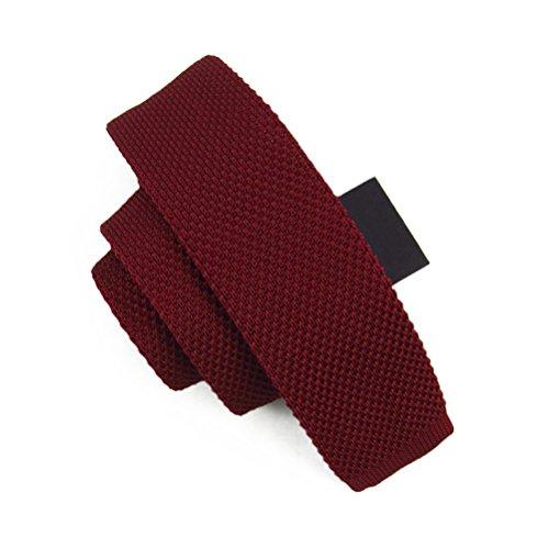 fan-tastik-herren-umweltfreundlich-mode-einfarbig-dunne-seidenstrick-krawatte-2-5cm-