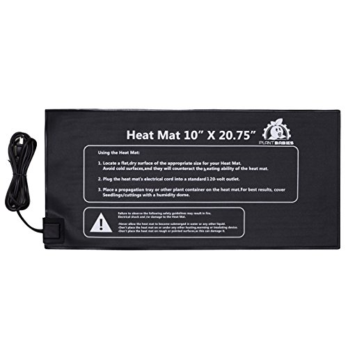 Plant Babies Seed Starter Propagation Heat Mat for Seedling, Cloning, Cutting, and Germination (10 x 20.75 in) (Seed Starter Pad compare prices)