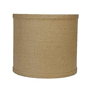 urbanest burlap drum lamp shade 10 inch by 10 inch by 10. Black Bedroom Furniture Sets. Home Design Ideas