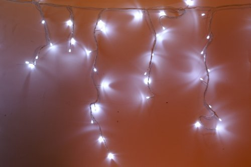 Christmas Concepts 600 White Led Snowing Icicle Lights 8 Function Li49