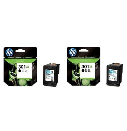2 x HP 301XL Cartouche d'encre CH563EE Noir (Lot de 2)