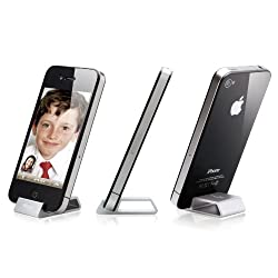 Elago S4 Stand(aluminum) Silver for iPhone4 (Angle support for FaceTime)