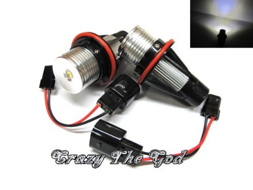 Crazythegod Led Angel Eye Marker Headlight Headlamp 5W E39 E53 E83 E87 X5 X3 Xenon White For Bmw