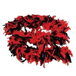 Black and Red Feather Boa - Great Dress Up! - 1