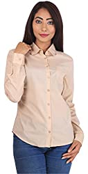 MansiCollections Womens Shirt (MC_SH_2107_BE_XS, Beige, X-Small)