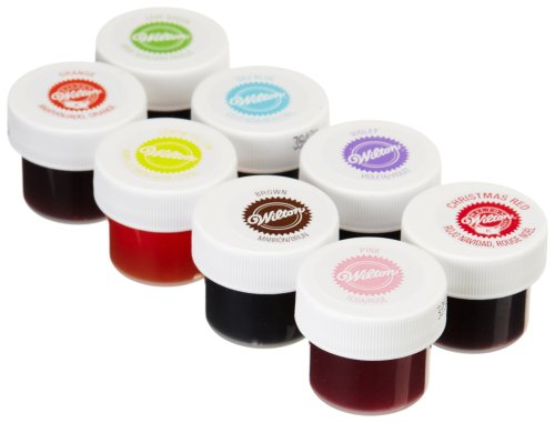 Wilton Set of 8 Icing Colors For Cake decorating Fondant ...