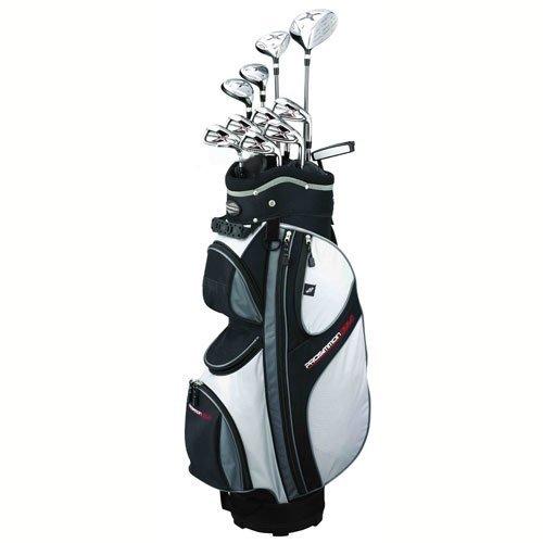 Prosimmon Golf X9 Mens Graphite & Steel Hybrid Club Set & Bag front-574722