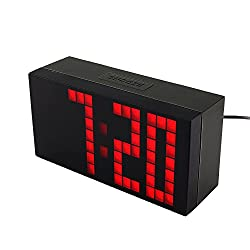 Yosoo Large Big 4 6 Digit Jumbo LED Digital Alarm Calendar Snooze Wall Desk Clock (red, 4-digit version)