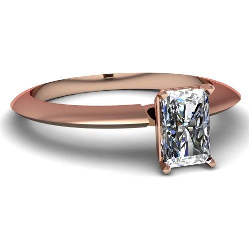 Fascinating Diamonds 1 Ct Radiant Cut Diamond Knife Edge Solitaire Engagement Ring Gold Vs1 14K Gia