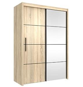 Inova Sliding Door Wardrobe Oak Effect 150cm   By Furniture Factor       reviews and more news