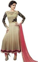 Vh Fashion Women Faux Georgette Anarkali Dress Material