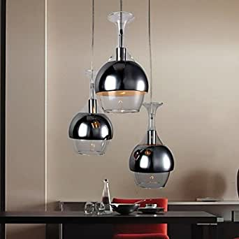Lampadario moderno con 3 luci: Amazon.it: Illuminazione