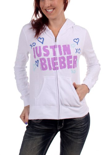 Justin Bieber - Womens Xo Hooded Sweater In White, Size: Large, Color: White