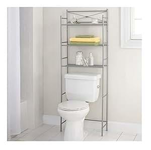 3 shelf bathroom space saver storage organizer for Bathroom art amazon