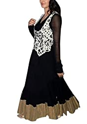 Ashvah Katrina Kaif Black Anarkali Suit