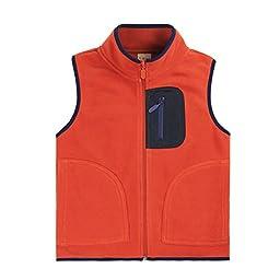 Bnspl Unisex kids\' Polar Fleece Vest