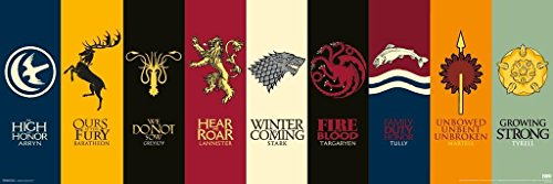 Game of Thrones House Sigils Slim Poster (House Stark compare prices)
